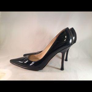 Jimmy Choo Black Patent Leather Stilletos - Size 8